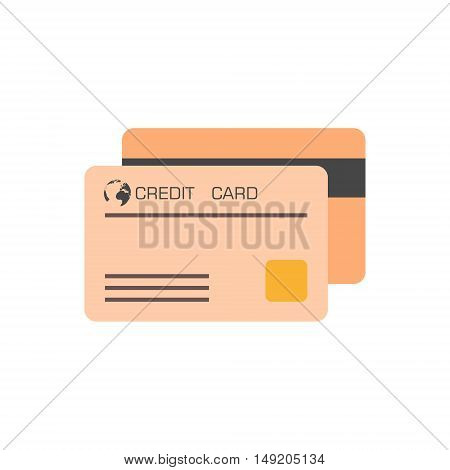 Vector Credit Card Icon set on white