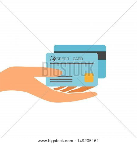 Vector Credit Card Icon on white background