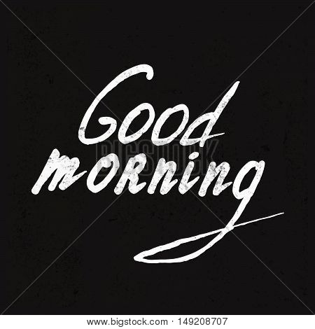 Good Morning lettering. Stock vector. Vector illustration.