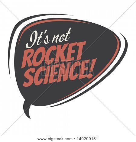 it's not rocket science retro cartoon balloon