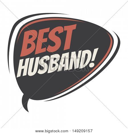 best husband retro cartoon balloon