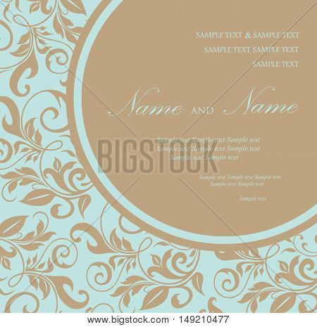 Wedding invitation or announcement card. Vector illustration
