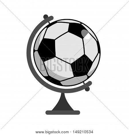 Soccer Ball Globe. World Game. Sports Accessory As Earth Sphere. Scope Football Game