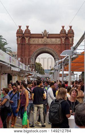 Barcelona, Spain - 25 September 2016: 36 Wine And Cava Festival 2016 Visitors.