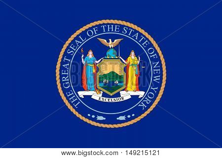 Flag of New York is a state in the Northeastern United States