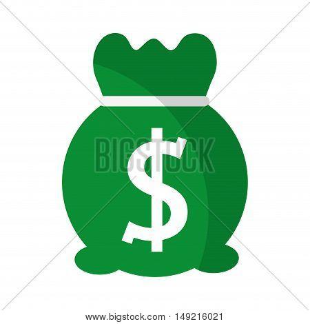 money bag sack icon vector illustration design