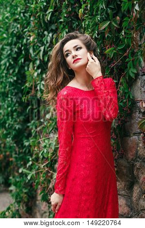 Beautiful Young Woman Dress