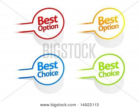 Best option and choice sticker collection