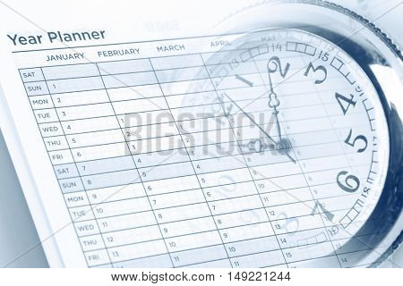 Watch and year planner page