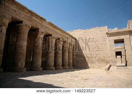 Backyard Of Medinet Habu Temple