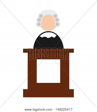 avatar judge bench icon vector illustration design