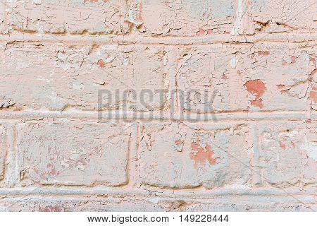 Pink White Brick Wall