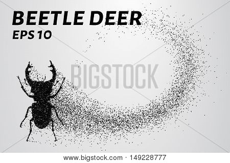 Beetle deer of the particles. Beetle deer consists of small circles.