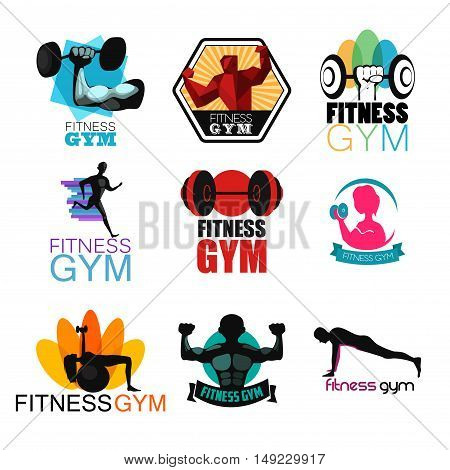 A vector illustration of Fitness Gym Logos