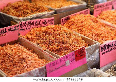 Dried Shrimps In Market