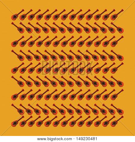 mexican guitarron pattern background image vector illustration