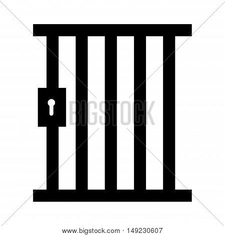 jail gate door icon vector illustration design