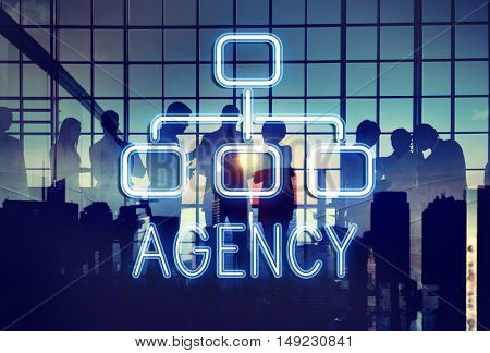 Agency Organization Chart Business Company Concept