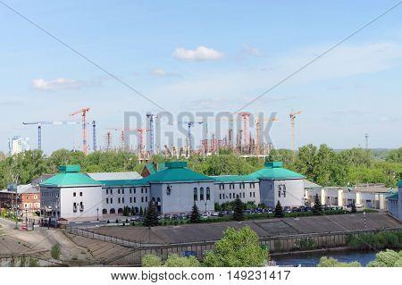 Nizhny Novgorod Russia. - May 19.2016. Construction of the stadium in Nizhny Novgorod to the FIFA World Cup 2018