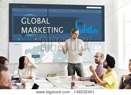 Economy Global Business Marketing Management Concept