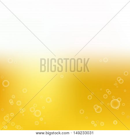 smooth golden colors with bubbles vector background for design. beer wallpaper