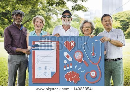 Health Healthcare Wellness Senior Adult Concept