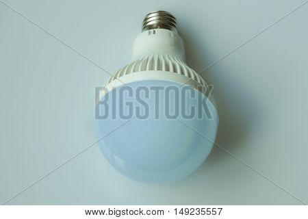 Electric light bulb. Energy saving fluorescent bulb.