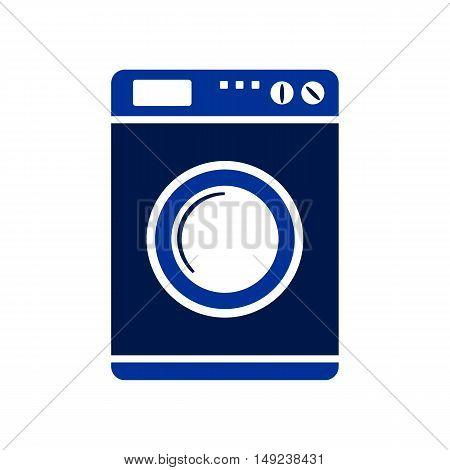 Washing machine symbol sign on white background. Vector illustration.