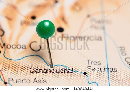 Cananguchal pinned on a map of Colombia