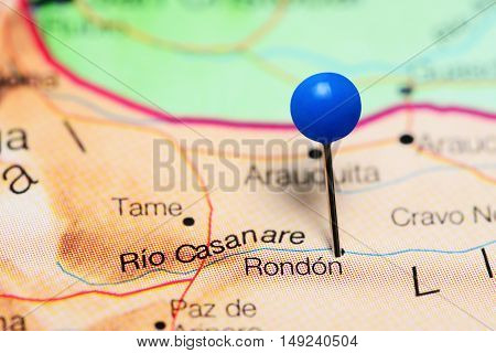 Rondon pinned on a map of Colombia