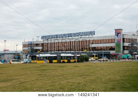Berlin, Germany - September 19, 2016: Terminal A building of Schoenefeld airport at day time