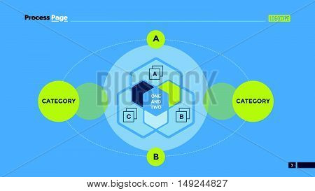 Hexagon Venn diagram. Element of infographics, diagram, chart. Creative concept for presentation, business templates, infographics, reports. Can be used for topics like strategy, analysis, planning