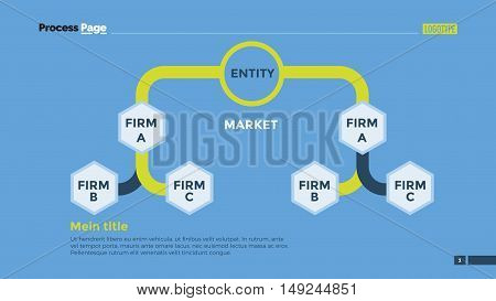 Flow chart slide template. Business data. Graph, diagram, design. Creative concept for infographic, templates, presentation, marketing. Can be used for topics like production, training, planning.