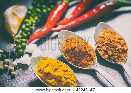 The Colorful Of Spice And Herb, The Main Ingredient For Many Food. You Can Apply For Background,back