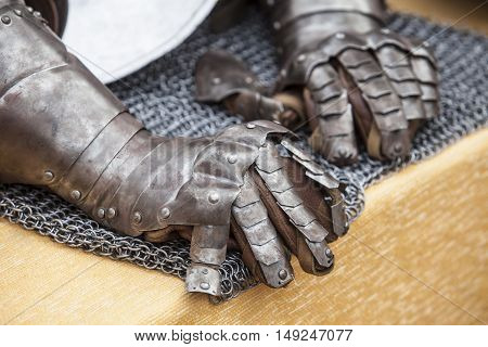 Reconquest warriors armour elements. Two Gloves detail
