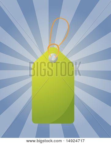 Empty sales tag