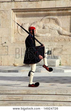 Soldier Mounts Guard