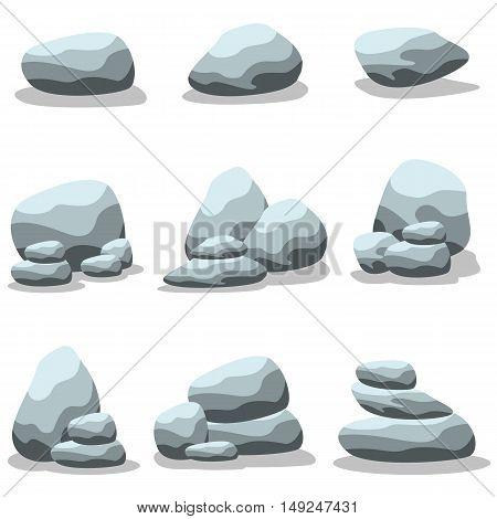 Set of rock vector art illustration collection