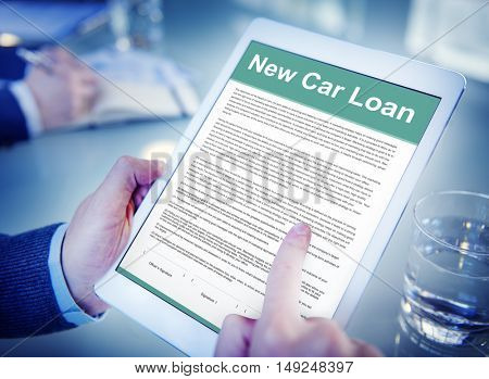 New Car Loan FInance Leasing Policy Concept