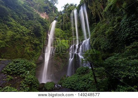 Sekumpul Waterfall located in northern Bali, Indonesia
