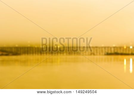 Blurred bridge background in the morning time