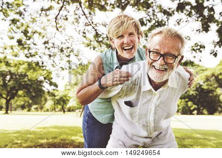 Senior Couple Relax Lifestyle Together Concept