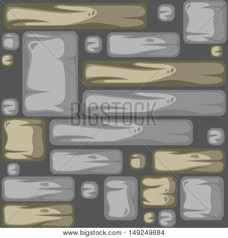 Abstract stone background . Seamless pattern. Vector Illustration.