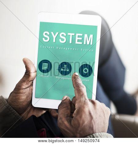 System Website Development Data Network Concept