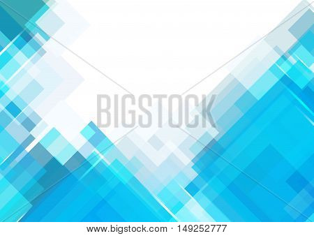 Blue shade rectangle background with space. vector illustration.