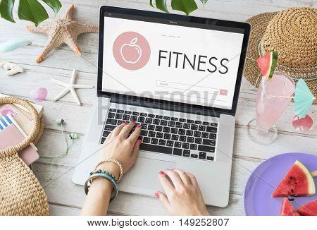 Health Wellness Diet Exercise Organic Concept