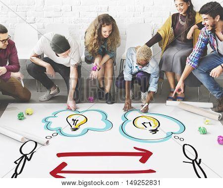 Creative Idea People Lightbulb Graphic Concept