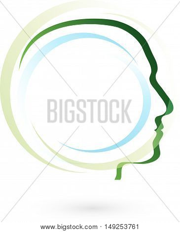 Face, head, man, logo, practitioner, psychologist, circles
