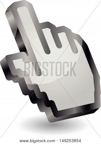 Hand, cursor, cursor main, logo, index finger