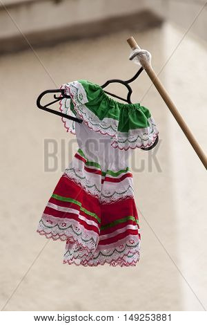 Mexico Independence Day celebration toddler dress in national colors